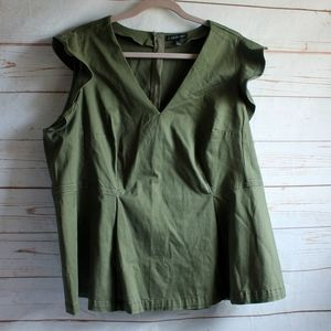 Lane Bryant Army Green Peplum Tank Top 22